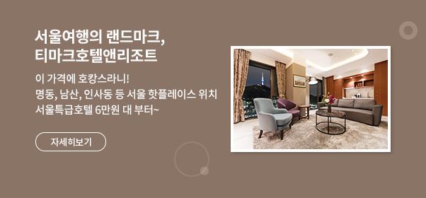 서울여행의 랜드마크, 티마크호텔앤리조트
