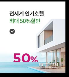 전세계 인기호텔 최대 50%할인